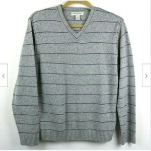 Banana Republic Striped V Neck Long Sleeve Sweater